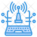 Digital Internet Signal Icon