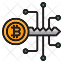 Bitcoin Cryptocurrency Key Icon