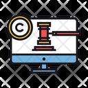Digital Law Online Law Copyright Icon
