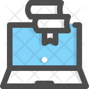 Digital Library Library Book Icon