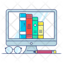 Digital Library Digital Books Online Library Icon