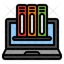 Digital Library Online Education Elearning Icon