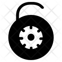 Digital Lock Unlock Icon