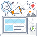 Digital Marketing Online Publicity Online Marketing Icon