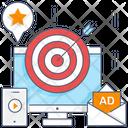 Onscreen Marketing Display Publicity Display Marketing Icon