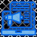 Laptop Megaphone File Icon