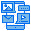 Mobile Online Mail Icon