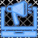 Laptop Online Marketing Icon