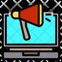 Laptop Advertisement Media Icon