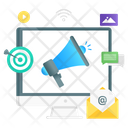 Mail Marketing Mail Promotion Email Advertising Icon