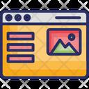 Digital Marketing Online Advertisement Page Optimization Icon