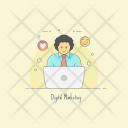 Digital Marketing Online Icon