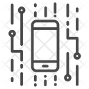 Digital mobile Icon