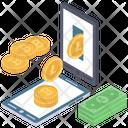 Digital Money Online Money Transfer Online Banking Icon