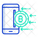 Mobile Bitcoin Online Digital Money Crypto Icon