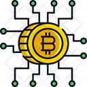 Digital Money Cryptocurrency Bitcoin Icon