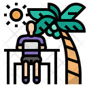 Digital nomad Icon