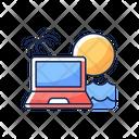 Digital Nomad Freelance Digital Icon