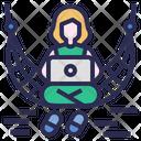 Digital Nomad Freelance Workation Icon