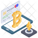 Digital Payment Online Banking Bitcoin Payment Icon