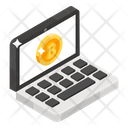 Bitcoin Account Laptop Cryptocurrency Online Bitcoin Icon