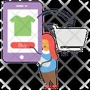 Digital Shopping Online Shopping Internet Shopping Icon