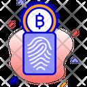 Digital Signature Cryptocurrency Signature Thumb Print Icon