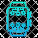 Digital Smartwatch Icon