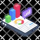 Online Analytics Mobile Analytics Digital Statistics Icon