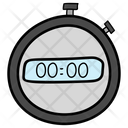 Digital Stopwatch Timer Timepiece Icon