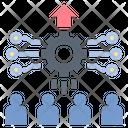 Digital Teamwork Icon