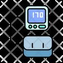 Digital Tension Meter Blood Pressure Health Icon