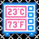 Digital Thermometer Color Icon
