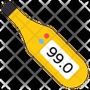Digital Thermometer Temperature Mercury Thermometer Icon