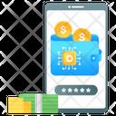 Mobile Wallet Digital Earning Digital Money Icon