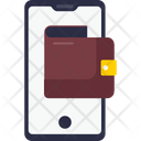 Payment Method Debit Card Mobile Banking Icon
