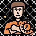 Diligent Man Timemanagement Smart Lifemanagement Icon