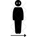 Dimension One Dimensional Person Icon