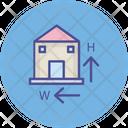 Dimension Dimensions Home Icon