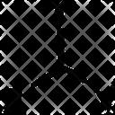Dimensional Triangle Square Icon