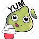 Dimsum Eating Cake Icon