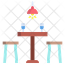 Atable Table Chair Icon