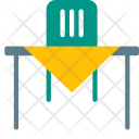 Dining Table Chair Icon