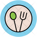 Dining Plate Fork Icon