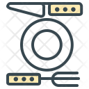 Dining Table Plate Icon