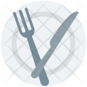 Dining Knife Plate Icon