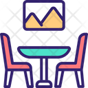 Dining Hall Dining Table Dining Chair Icon