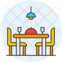 Dining Room Dining Table Chairs Icon