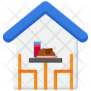 Dining Room Dinner Table Furniture Icon