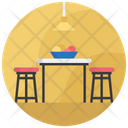 Dining Table Furniture Restaurant Table Icon
